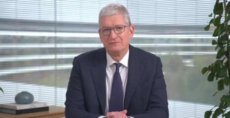 库克要求苹果员工从9月开始线下复工每周至少3天