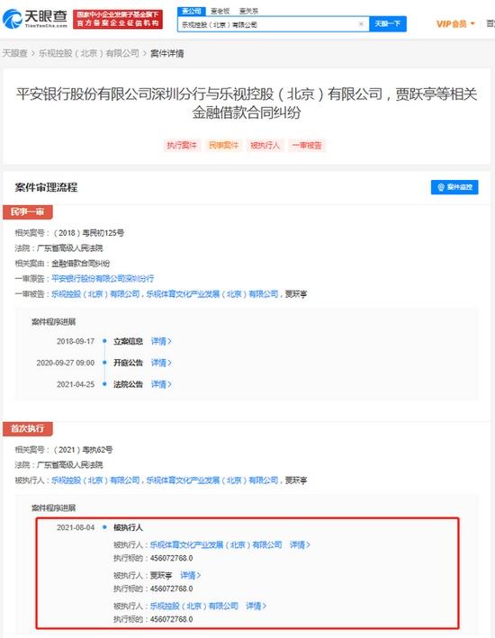 贾跃亭因借款纠纷被执行超4.5亿被执行总金额超94亿